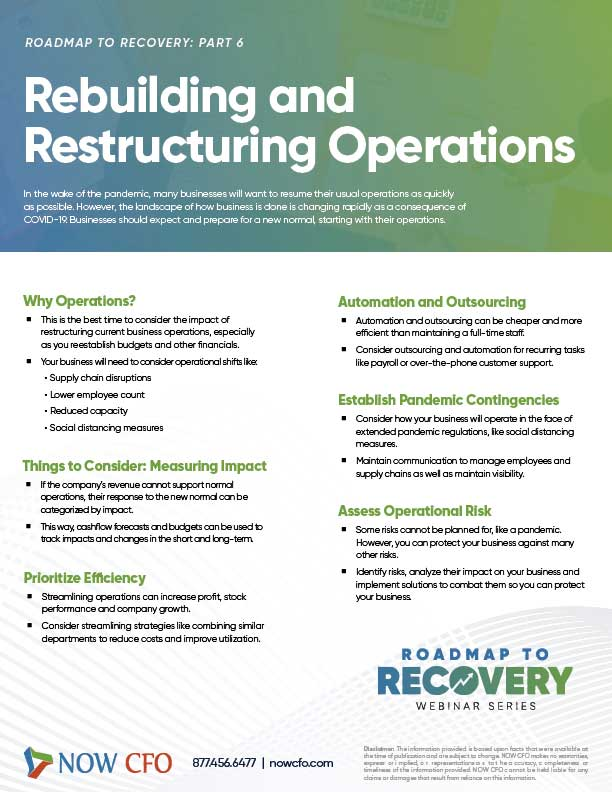 Rebuilding And Restructuring Operations