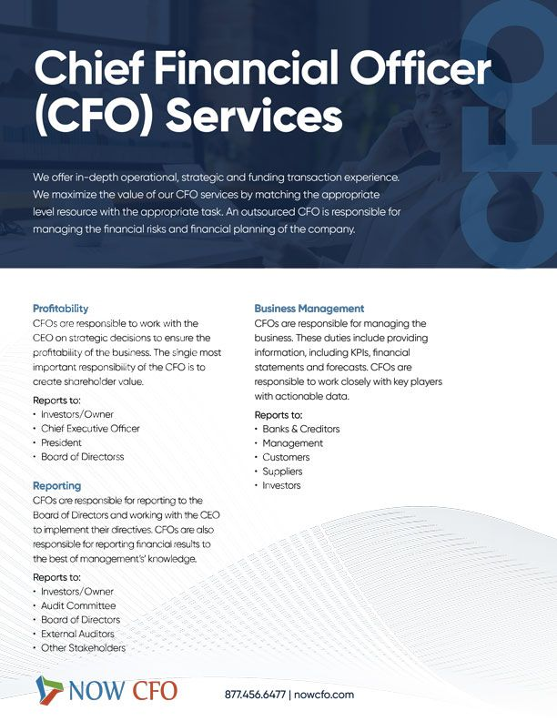 Chief Financial Officer (CFO) Services