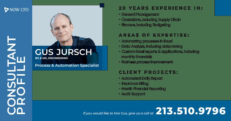 Consultant Profile Social Post Gus Jursch