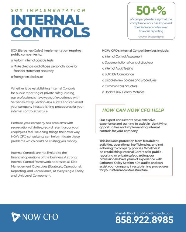 SOX (Sarbanes-Oxley) Internal-Controls